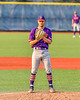 """Cortland Crush Pitcher Brandon """"Buzz"""" Shirley (18) on the mound against the Syracuse Salt Cats in New York Collegiate Baseball League action at OCC Turf Field in Syracuse, New York on Tuesday, July 6, 2021. Game ended in a 3-3 tie."""