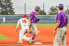 Cortland Crush Zach Marriott (5) beats the throw at First Base against the Syracuse Salt Cats in New York Collegiate Baseball League action at OCC Turf Field in Syracuse, New York on Tuesday, July 6, 2021. Game ended in a 3-3 tie.