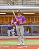 Cortland Crush Justice Welch (12) at bat against the Syracuse Salt Cats in New York Collegiate Baseball League action at OCC Turf Field in Syracuse, New York on Tuesday, July 6, 2021. Game ended in a 3-3 tie.
