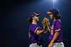Cortland Crush Corey Stofko (15) congratulates Pitcher Matthew Sorrells (30) against the Syracuse Salt Cats in New York Collegiate Baseball League action at OCC Turf Field in Syracuse, New York on Tuesday, July 6, 2021. Game ended in a 3-3 tie.