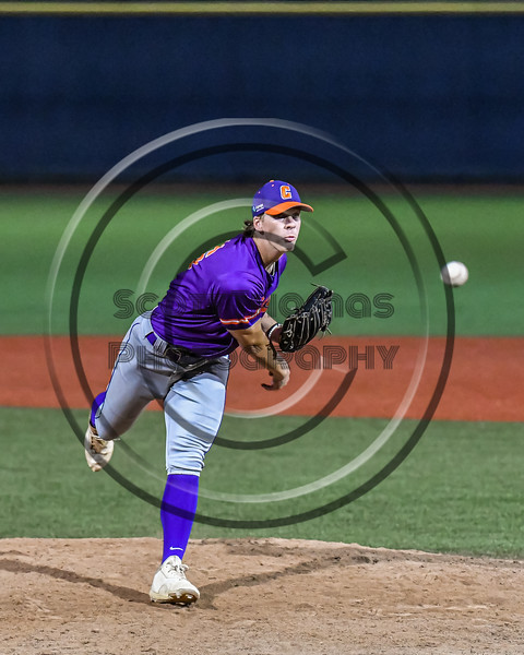 Cortland Crush Jake Albro (16) pitching against the Syracuse Salt Cats in New York Collegiate Baseball League action at OCC Turf Field in Syracuse, New York on Tuesday, July 6, 2021. Game ended in a 3-3 tie.