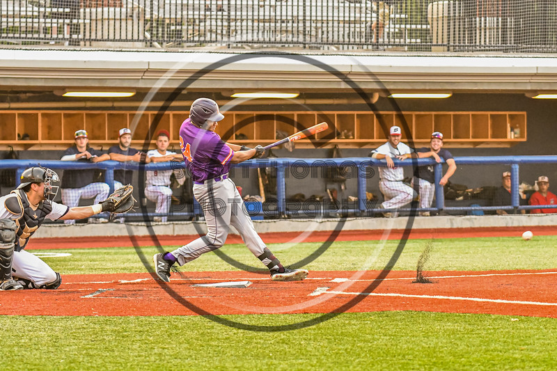 Cortland Crush Lawrence Hamilton (34) hits the ball against the Syracuse Salt Cats in New York Collegiate Baseball League action at OCC Turf Field in Syracuse, New York on Tuesday, July 6, 2021. Game ended in a 3-3 tie.