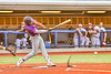 Cortland Crush Justice Welch (12) hits the ball against the Syracuse Salt Cats in New York Collegiate Baseball League action at OCC Turf Field in Syracuse, New York on Tuesday, July 6, 2021. Game ended in a 3-3 tie.