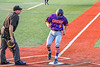 Cortland Crush Zach Marriott (5) scores a run against the Syracuse Salt Cats in New York Collegiate Baseball League action at OCC Turf Field in Syracuse, New York on Tuesday, July 6, 2021. Game ended in a 3-3 tie.
