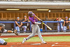 Cortland Crush Justice Welch (12) fouls off the ball against the Syracuse Salt Cats in New York Collegiate Baseball League action at OCC Turf Field in Syracuse, New York on Tuesday, July 6, 2021. Game ended in a 3-3 tie.