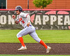 """Cortland Crush Brandon """"Buzz"""" Shirley (18) running the bases against the Mansfield Destroyers during the New York Collegiate Baseball League Jamboree at Wallace Field in Cortland, New York on Saturday, July 10, 2021. Cortland won 2-1."""