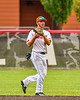 Cortland Crush Short Stop Michael Breen (6) catches the ball for an out against the Mansfield Destroyers during the New York Collegiate Baseball League Jamboree at Wallace Field in Cortland, New York on Saturday, July 10, 2021. Cortland won 2-1.