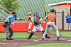 Cortland Crush Catcher Matthew Ward (20) throwing the ball against the Mansfield Destroyers during the New York Collegiate Baseball League Jamboree at Wallace Field in Cortland, New York on Saturday, July 10, 2021. Cortland won 2-1.