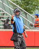 Umpire calling a strike against the Cortland Crush batter against the Mansfield Destroyers during the New York Collegiate Baseball League Jamboree at Wallace Field in Cortland, New York on Saturday, July 10, 2021. Cortland won 2-1.