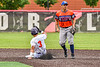 Cortland Crush Javier Rosa (3) slides safely into Second Base against the Mansfield Destroyers during the New York Collegiate Baseball League Jamboree at Wallace Field in Cortland, New York on Saturday, July 10, 2021. Cortland won 2-1.