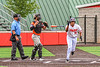 Cortland Crush Lawrence Hamilton (34) tosses his bat after being walked by the Mansfield Destroyers pitcher during the New York Collegiate Baseball League Jamboree at Wallace Field in Cortland, New York on Saturday, July 10, 2021. Cortland won 2-1.