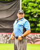 Infield Umpire working the Cortland Crush against the Mansfield Destroyers game during the New York Collegiate Baseball League Jamboree at Wallace Field in Cortland, New York on Saturday, July 10, 2021. Cortland won 2-1.
