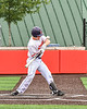 Cortland Crush Matthew Ward (20) gets hit with a pitch against the Mansfield Destroyers during the New York Collegiate Baseball League Jamboree at Wallace Field in Cortland, New York on Saturday, July 10, 2021. Cortland won 2-1.