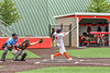 Cortland Crush Colt Harris (4) hits the ball against the Mansfield Destroyers during the New York Collegiate Baseball League Jamboree at Wallace Field in Cortland, New York on Saturday, July 10, 2021. Cortland won 2-1.
