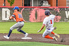 Mansfield Destroyers Randall Hien (35) forces Cortland Crush Nicholas Pastore (1) out at Second Base during the New York Collegiate Baseball League Jamboree at Wallace Field in Cortland, New York on Saturday, July 10, 2021. Cortland won 2-1.