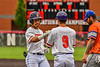 Cortland Crush Javier Rosa (3) at First Base against the Mansfield Destroyers during the New York Collegiate Baseball League Jamboree at Wallace Field in Cortland, New York on Saturday, July 10, 2021. Cortland won 2-1.