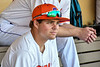 Cortland Crush Tommy Thamann (31) in the Dugout before p laying the Dansville Gliders in a the New York Collegiate Baseball League Jamboree game at Gutchess Lumber Sports Complex in Cortland, New York on Saturday, July 10, 2021.