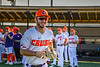 Cortland Crush Nicholas Pastore (1) being introduced before playing the Dansville Gliders in a New York Collegiate Baseball League Jamboree game at Gutchess Lumber Sports Complex in Cortland, New York on Saturday, July 10, 2021.