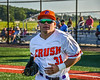 Cortland Crush Tommy Thamann (31) being introduced before playing the Dansville Gliders in a New York Collegiate Baseball League Jamboree game at Gutchess Lumber Sports Complex in Cortland, New York on Saturday, July 10, 2021.