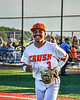 Cortland Crush Javier Rosa (3) being introduced before playing the Dansville Gliders in a New York Collegiate Baseball League Jamboree game at Gutchess Lumber Sports Complex in Cortland, New York on Saturday, July 10, 2021.
