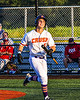 Cortland Crush Zach Marriott (5) celebrates his Home Run against the Dansville Gliders during the New York Collegiate Baseball League Jamboree at Gutchess Lumber Sports Complex in Cortland, New York on Saturday, July 10, 2021. Cortland won 2-0.