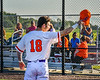 """Cortland Crush Brandon """"Buzz"""" Shirley (18) being introduced before playing the Dansville Gliders in a New York Collegiate Baseball League Jamboree game at Gutchess Lumber Sports Complex in Cortland, New York on Saturday, July 10, 2021."""