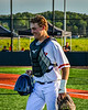 Cortland Crush Jake Andersen (22) being introduced before playing the Dansville Gliders in a New York Collegiate Baseball League Jamboree game at Gutchess Lumber Sports Complex in Cortland, New York on Saturday, July 10, 2021.