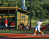 Cortland Crush Tommy Thamann (31) hits the ball against the Dansville Gliders during the New York Collegiate Baseball League Jamboree at Gutchess Lumber Sports Complex in Cortland, New York on Saturday, July 10, 2021. Cortland won 2-0.