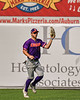 Cortland Crush Nicholas Pastore (1) runs down and catches the ball against the Syracuse Salt Cats in New York Collegiate Baseball League action on Leo Pinckney Field at Falcon Park in Auburn, New York on Sunday, July 18, 2021. Cortland won 4-3.
