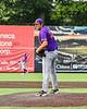 Cortland Crush Pitcher Jackson Krueger (33) on the mound against the Syracuse Salt Cats in New York Collegiate Baseball League action on Leo Pinckney Field at Falcon Park in Auburn, New York on Sunday, July 18, 2021. Cortland won 4-3.