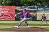 Cortland Crush Garrett Bell (10) pitching against the Syracuse Salt Cats in New York Collegiate Baseball League action on Leo Pinckney Field at Falcon Park in Auburn, New York on Sunday, July 18, 2021. Cortland won 4-3.