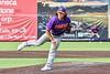 Cortland Crush David Keller (17) pitching against the Syracuse Salt Cats in New York Collegiate Baseball League action on Leo Pinckney Field at Falcon Park in Auburn, New York on Sunday, July 18, 2021. Cortland won 4-3.