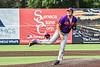 Cortland Crush Jackson Krueger (33) pitching against the Syracuse Salt Cats in New York Collegiate Baseball League action on Leo Pinckney Field at Falcon Park in Auburn, New York on Sunday, July 18, 2021. Cortland won 4-3.