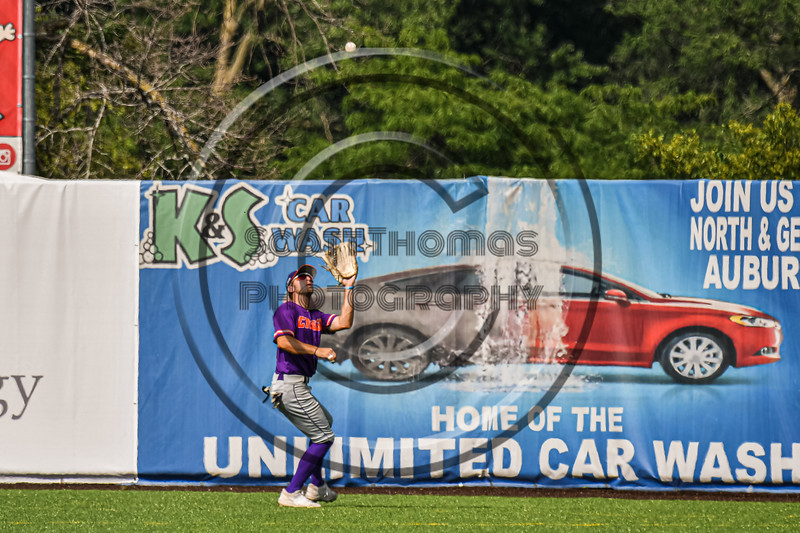 Cortland Crush Center Fielder Nicholas Pastore (1) chatches and throwing the ball against the Syracuse Salt Cats in New York Collegiate Baseball League action on Leo Pinckney Field at Falcon Park in Auburn, New York on Sunday, July 18, 2021. Cortland won 4-3.