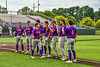 Cortland Crush starting lineup being introduced before playing the Syracuse Salt Cats on Leo Pinckney Field at Falcon Park in Auburn, New York on Sunday, July 18, 2021.