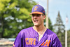 "Cortland Crush Brandon ""Buzz"" Shirley (18) after an inning against the Syracuse Salt Cats in New York Collegiate Baseball League action on Leo Pinckney Field at Falcon Park in Auburn, New York on Sunday, July 18, 2021. Cortland won 4-3."