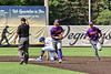 Cortland Crush Colt Harris (4) and Michael Breen (6) jog off the field after the last out against the Syracuse Salt Cats in New York Collegiate Baseball League action on Leo Pinckney Field at Falcon Park in Auburn, New York on Sunday, July 18, 2021. Cortland won 4-3.