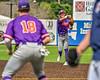 Cortland Crush Colt Harris (4) throwing the ball against the Syracuse Salt Cats in New York Collegiate Baseball League action on Leo Pinckney Field at Falcon Park in Auburn, New York on Sunday, July 18, 2021. Cortland won 4-3.