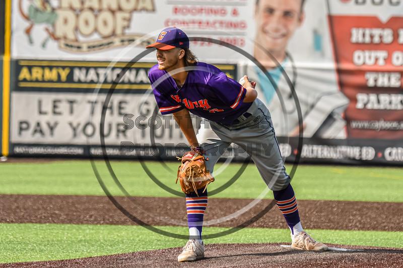 Cortland Crush Matthew Sorrells (30) on the mound against the Syracuse Salt Cats in New York Collegiate Baseball League action on Leo Pinckney Field at Falcon Park in Auburn, New York on Sunday, July 18, 2021. Cortland won 4-3.