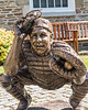 Statue of National Baseball Hall of Fame catcher for the Brooklyn Dodgers, Roy Campanella in Cooperstown, New York on Friday, July 23, 2021.