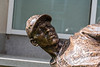 Statue of Satchel Paige outside the National Baseball Hall of Fame in Cooperstown, New York on Friday, July 23, 2021.