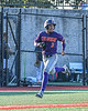 Cortland Crush Javier Rosa (3) running down the Third Base line against the Syracuse Salt Cats in New York Collegiate Baseball League playoff action at OCC Turf Field in Syracuse, New York on Wednesday, July 28, 2021. Cortland won 12-0.