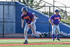 Cortland Crush Michael Breen (6) running down the Third Base line against the Syracuse Salt Cats in New York Collegiate Baseball League playoff action at OCC Turf Field in Syracuse, New York on Wednesday, July 28, 2021. Cortland won 12-0.