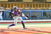 Cortland Crush Javier Rosa (3) hits the ball against the Syracuse Salt Cats in New York Collegiate Baseball League playoff action at OCC Turf Field in Syracuse, New York on Wednesday, July 28, 2021. Cortland won 12-0.