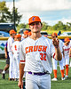 A comfident Cortland Crush John Davis (32) before playing the Hornell Dodgers in a New York Collegiate Baseball League Championship playoff game at Gutchess Lumber Sports Complex in Cortland, New York on Friday, July 30, 2021.