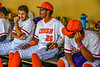 Cortland Crush Alexis Castillo (26) prepping to play against the Hornell Dodgers in a New York Collegiate Baseball League Championship playoff game at Gutchess Lumber Sports Complex in Cortland, New York on Friday, July 30, 2021.
