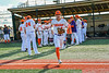Cortland Crush Colt Harris (4) being introduced before playing the Hornell Dodgers in a New York Collegiate Baseball League Championship playoff game at Gutchess Lumber Sports Complex in Cortland, New York on Friday, July 30, 2021.