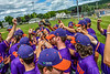 Cortland Crush players getting ready to play the Hornell Dodgers in a New York Collegiate Baseball League Championship playoff game in Hornell, New York on Saturday, July 31, 2021.
