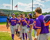 Cortland Crush starting line up being announced before playing the Hornell Dodgers in a New York Collegiate Baseball League Championship playoff game in Hornell, New York on Saturday, July 31, 2021.