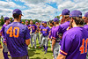 Cortland Crush Manager Bill McConnell addresses this taem before a New York Collegiate Baseball League Championship playoff game against the Hornell Dodgers in Hornell, New York on Saturday, July 31, 2021.